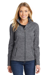 Port Authority® Digi Stripe Fleece Jacket - Ladies