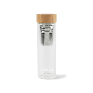 Eden Double Wall Bamboo Glass Bottle 13.5 Oz.